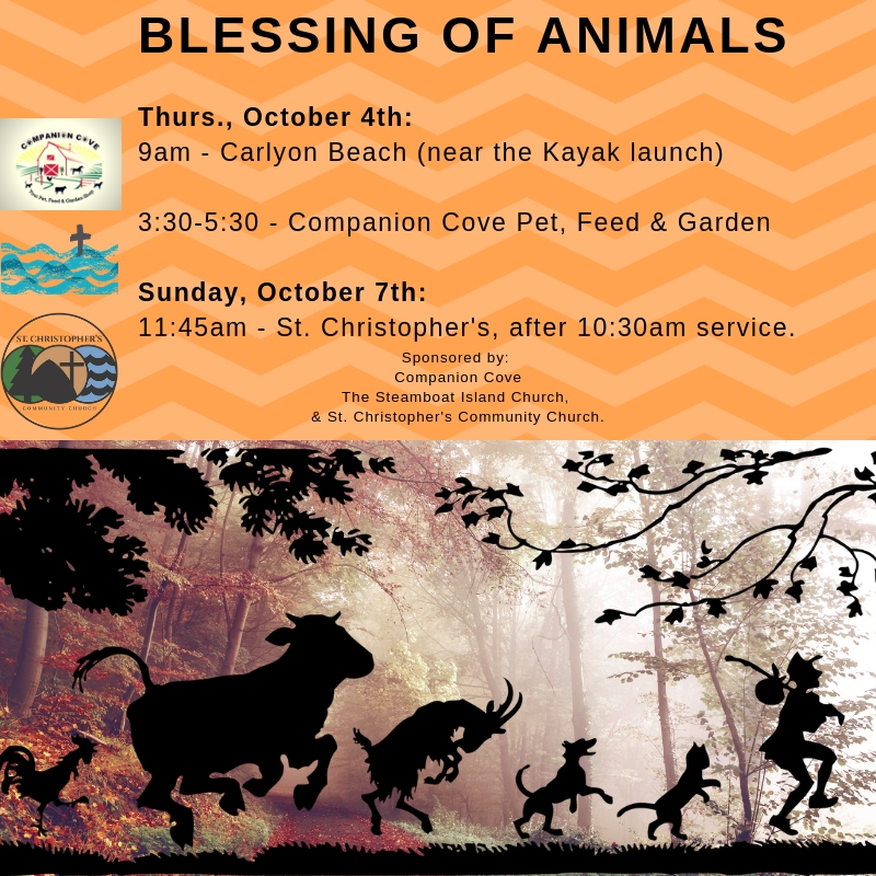 Blessing of the Animals: October 4th & 7th